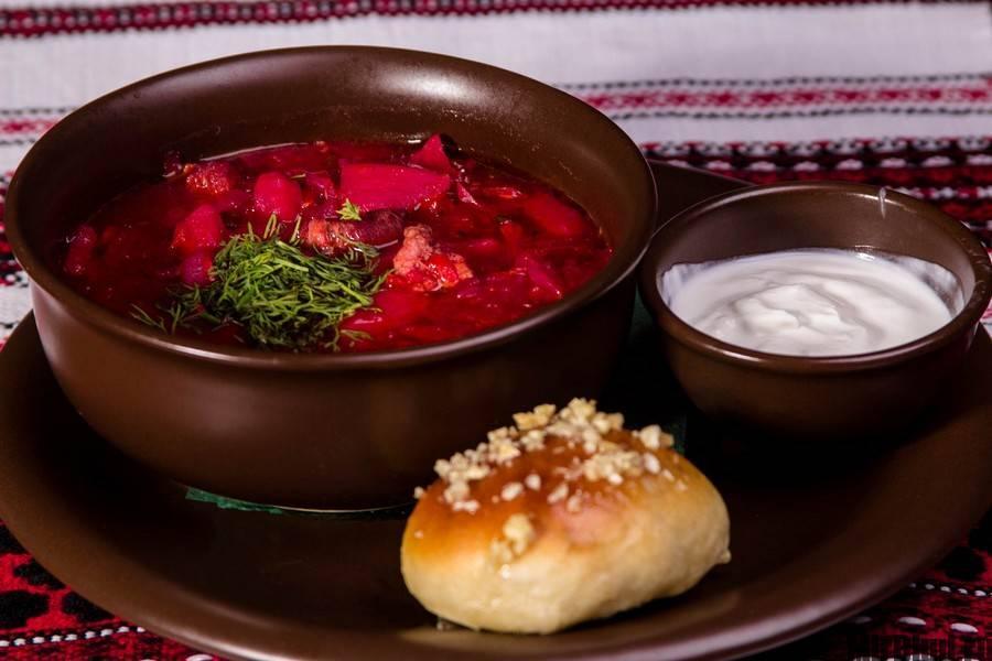 Классический рецепт красного борща с мясом