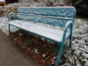 В Москве лег первый снег
