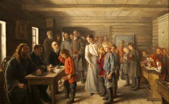 М.М. Д, Альгейм. В сельской школе. 1901