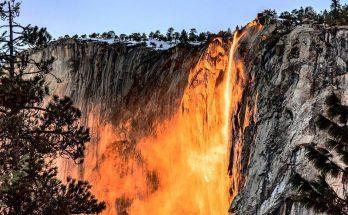 Огненный водопад Калифорнии