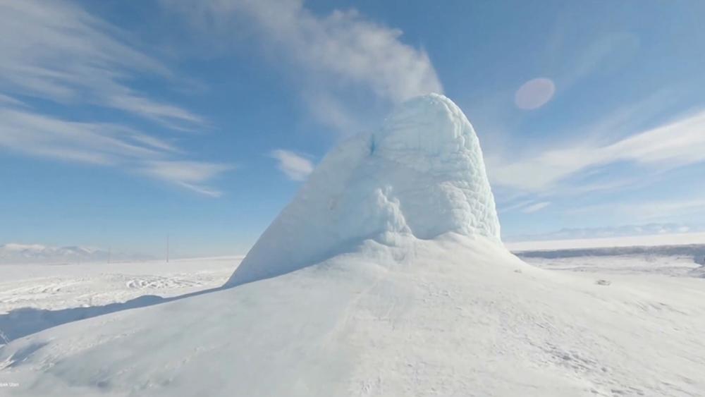 Чудо природы - ледяной вулкан