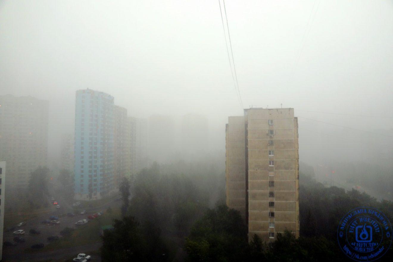 Ливень. Москва, район проспект Вернадского