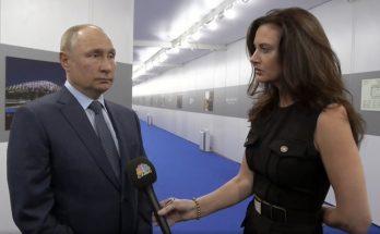 Кадр из интервью Владимира Владимировича каналу СNBC